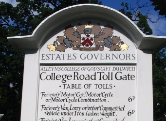 Tollgate Sign