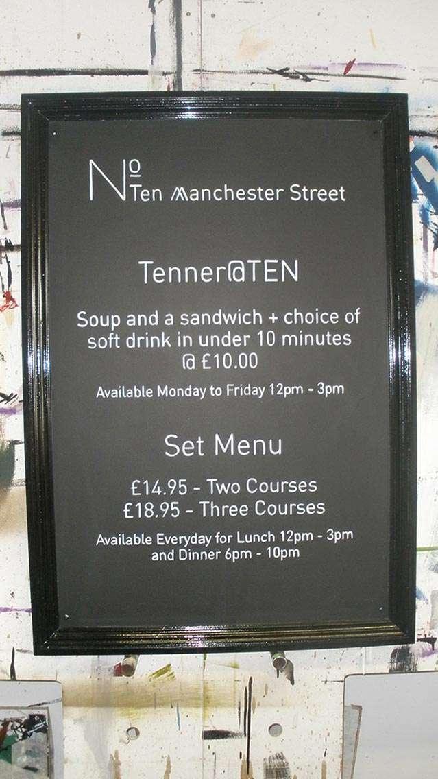 No. Ten Manchester Street