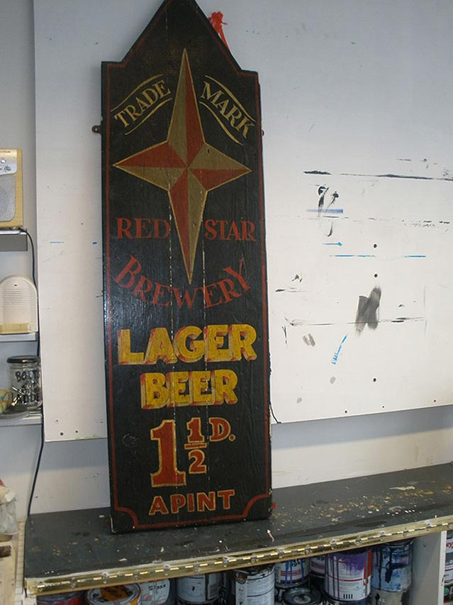 Red Star Brewery Lager Beer