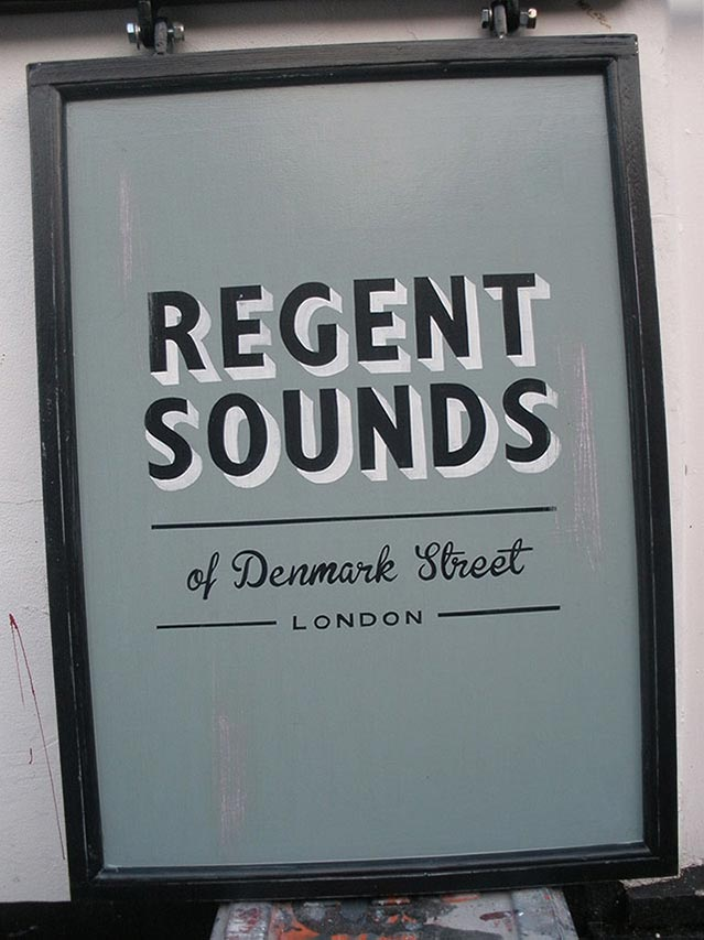 Regent Sounds of Denmark Street London