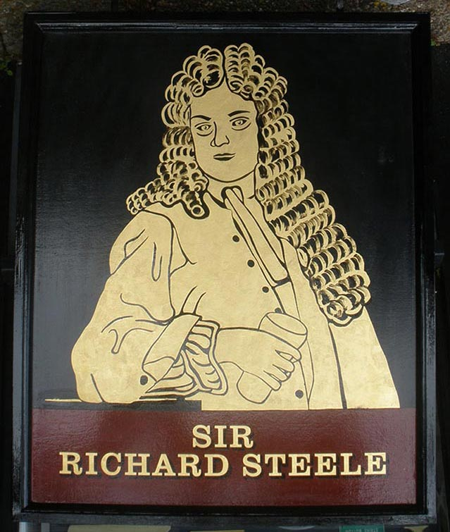 Sir Richard Steele Hanging Sign