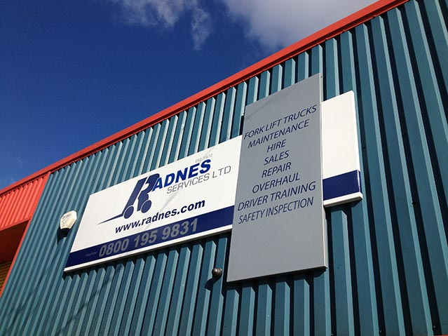 Radnes Services Ltd Tray Sign