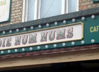 Birdie Num Nums Shop Sign